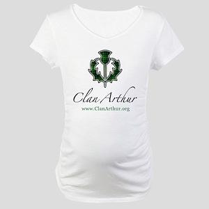 Clan Arthur Thistle Maternity T-Shirt