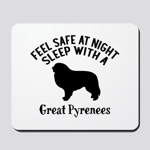 Feel Safe At Night Sleep With Great Pyre Mousepad
