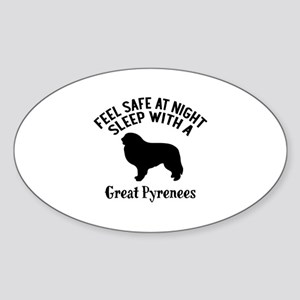 Feel Safe At Night Sleep With Great Sticker (Oval)