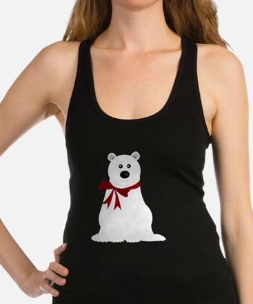 Cute Polar Bear with Red Bow Ch Racerback Tank Top