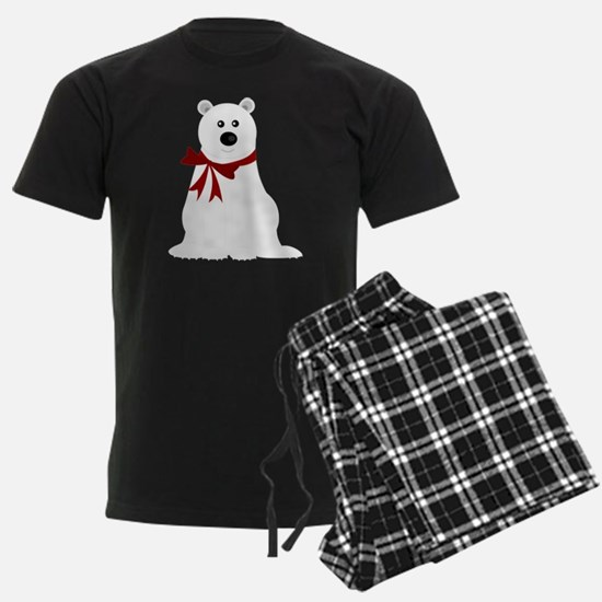 Cute Polar Bear with Red Bow C pajamas