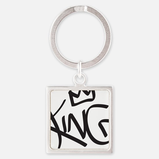 Cute King Square Keychain
