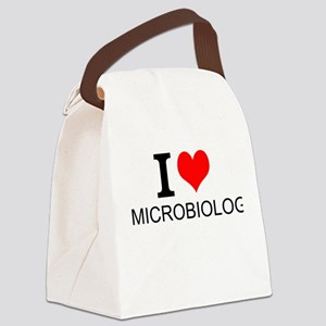 I Love Microbiology Canvas Lunch Bag