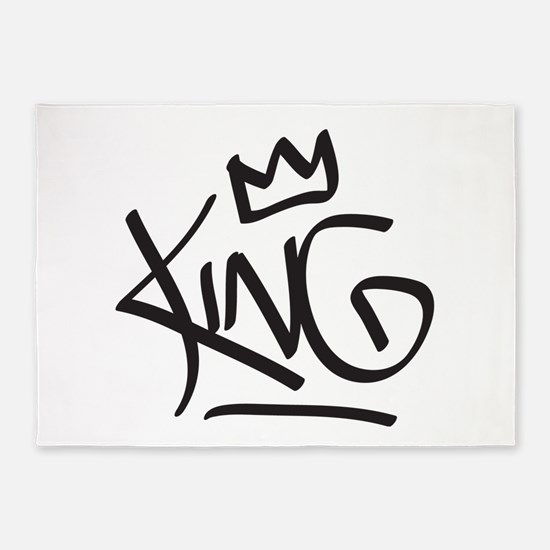 King Tag 5'x7'Area Rug