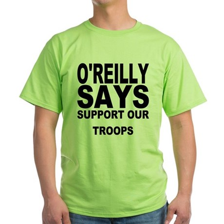 SUPPORT OUR TROOPS Green T-Shirt
