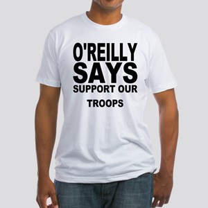 SUPPORT OUR TROOPS Fitted T-Shirt