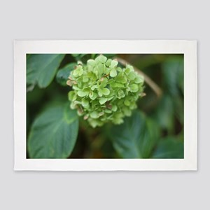 green hydrangea in garde 5'x7'Area Rug