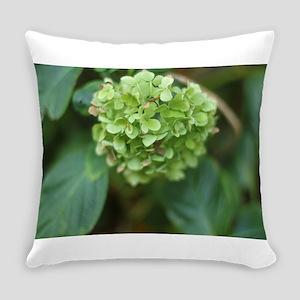 green hydrangea in garde Everyday Pillow