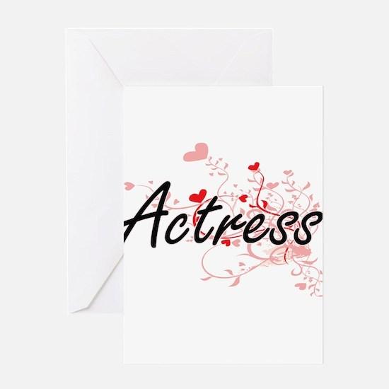 Actress Artistic Job Design with He Greeting Cards