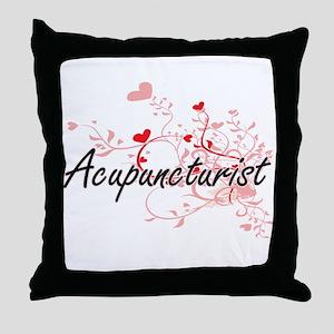 Acupuncturist Artistic Job Design wit Throw Pillow