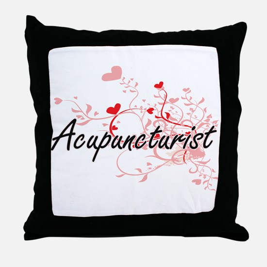 Acupuncturist Artistic Job Design wit Throw Pillow