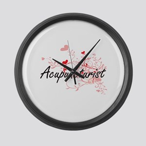Acupuncturist Artistic Job Design Large Wall Clock