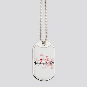Acupuncturist Artistic Job Design with He Dog Tags