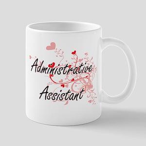 Administrative Assistant Artistic Job Design Mugs