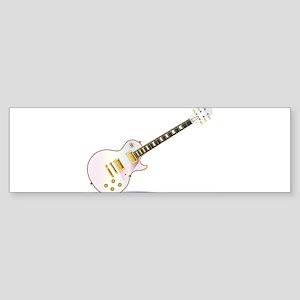 Pink Electric Guitar Bumper Sticker
