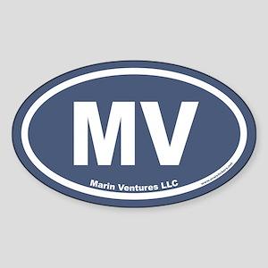 Marin Ventures LLC MV Euro Oval Sticker