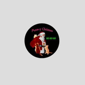 Santa And Cats Mini Button