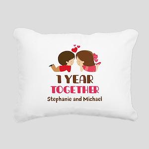 1st Anniversary Personalized 1 year Rectangular Ca