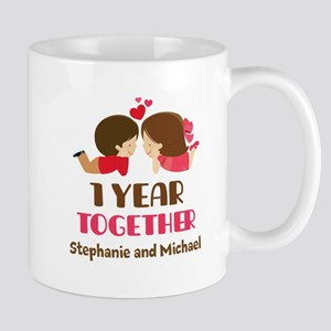 1st Anniversary Personalized 1 year Mugs