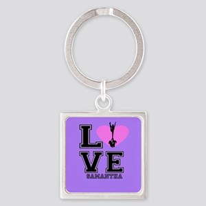 Purple Cheerleader Keychains