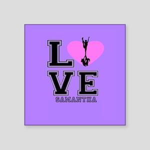 Purple Cheerleader Sticker