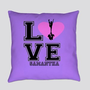 Purple Cheerleader Everyday Pillow