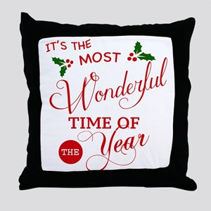 Wonderful Time of the Year Throw Pillow