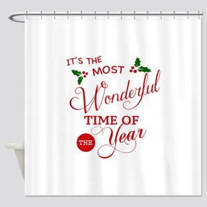 Wonderful Time of the Year Shower Curtain