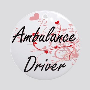 Ambulance Driver Artistic Job Desig Round Ornament