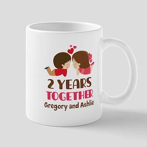 2nd Anniversary personalized Mugs