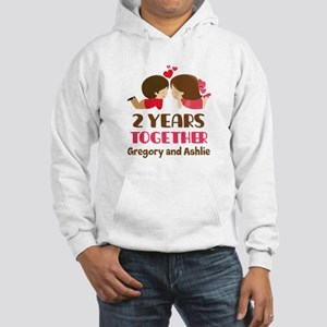 2nd Anniversary personalized Hoodie