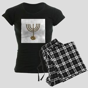 hannukah menorah Women's Dark Pajamas