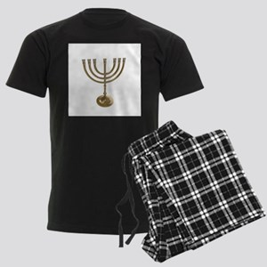 hannukah menorah Men's Dark Pajamas