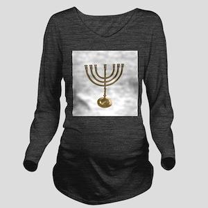 hannukah menorah Long Sleeve Maternity T-Shirt