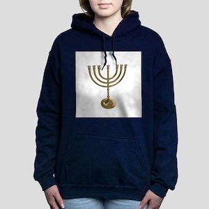 hannukah menorah Women's Hooded Sweatshirt