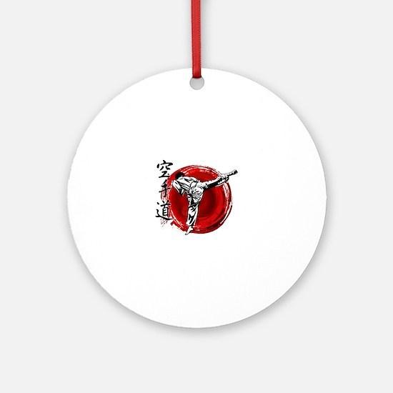 Cute Martial arts Round Ornament