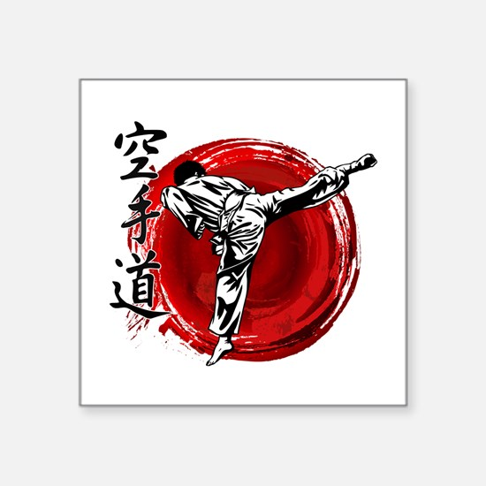 "Cute Shotokan karate Square Sticker 3"" x 3"""