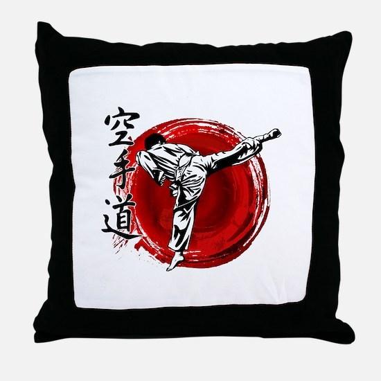 Unique Martial arts Throw Pillow