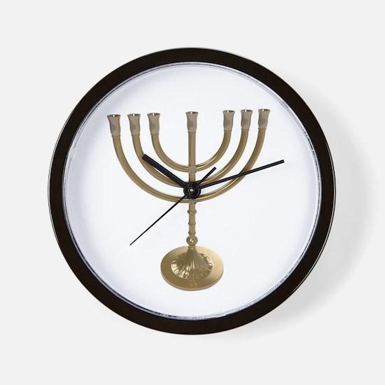 hannukah menorah Wall Clock