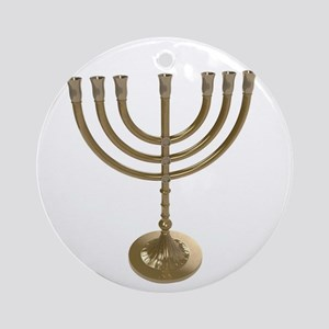 hannukah menorah Round Ornament