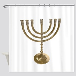 hannukah menorah Shower Curtain