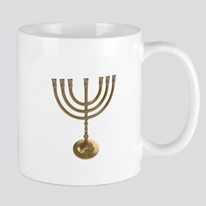 hannukah menorah Mugs