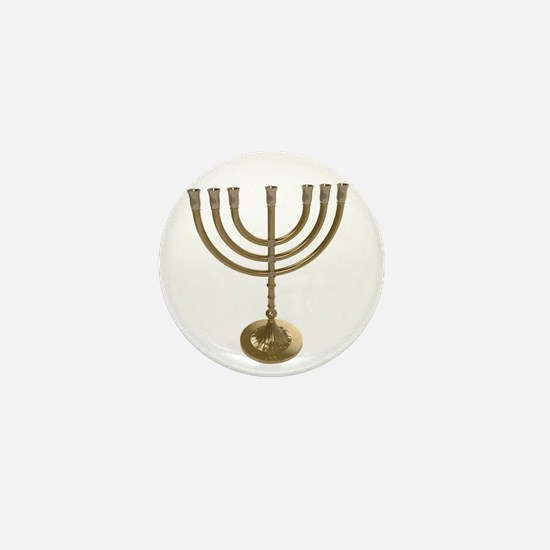 hannukah menorah Mini Button