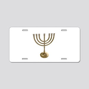 hannukah menorah Aluminum License Plate