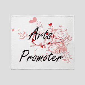 Arts Promoter Artistic Job Design wi Throw Blanket