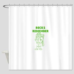 Rocks Remember Shower Curtain