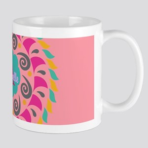 Pink Personalized Monogram Mugs