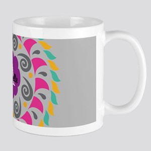 Gray Personalized Monogram Mugs