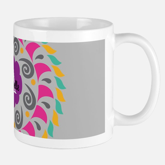Gray Personalized Monogram Mugs
