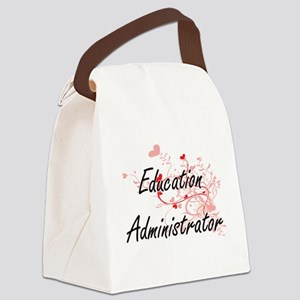 Education Administrator Artistic Canvas Lunch Bag
